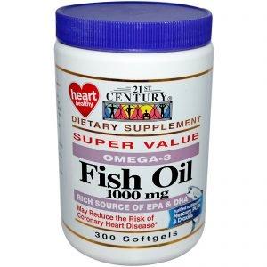 אומגה -3, שמן דגים פרימיום,אריזת חסכון (300יח')