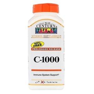 """""""ויטמין C שחרור ממושך"""",1000מג' סדרת חורף בריא (110 יח')"""