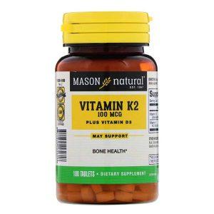 ויטמין D3 פלוס K2 100 יח' השילוב המושלם