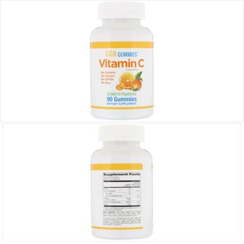 ויטמין C סוכריות גומי טעמי תפוז טבעי, ללא ג'לטין, 90 יח'