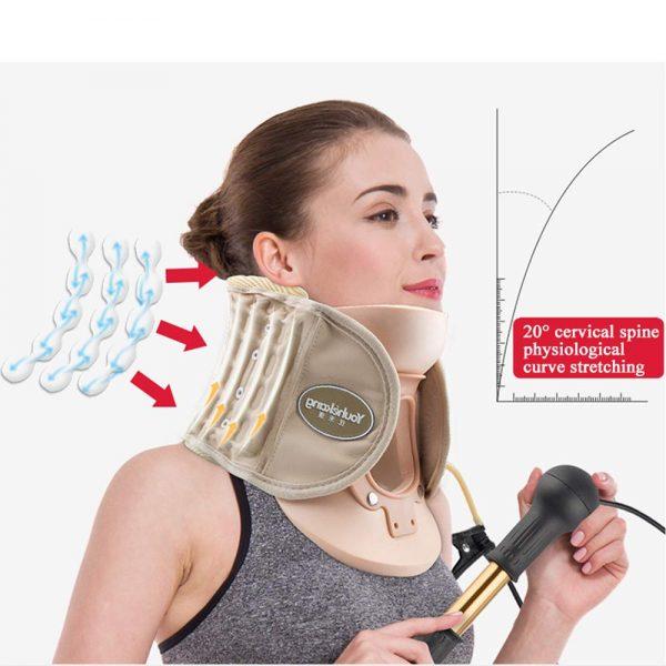 חגורת צוואר טיפולית מתיחה צווארית - חדש