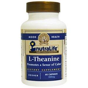 """תיאנין, L- Theanine 200 מ""""ג,(מחוזק) 60 יח' לרוגע ושלווה"""
